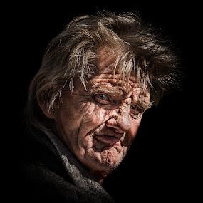 The man by Annelie Hallberg - People Portraits of Men ( face, hardlife, old, color, man, portrait, close,  )