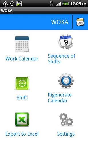 WOKA - 仕事の予定表
