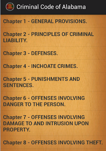 Criminal code of Alabama