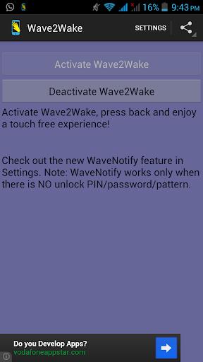 Wave2Wake - With WaveNotify