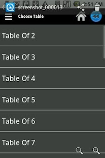 Math Tables - screenshot thumbnail