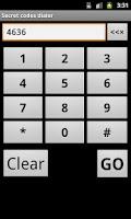 Screenshot of Secret Codes Dialer