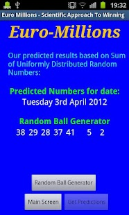 EuroMillions Predictor Free - screenshot thumbnail