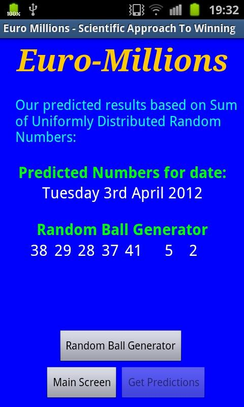EuroMillions Predictor Free - screenshot