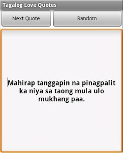 ... of beautiful and sometimes funny but true Tagalog Love Quotes