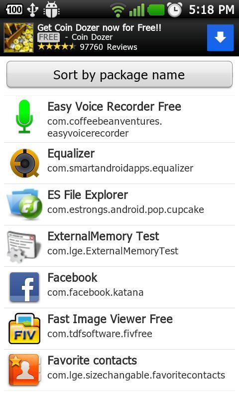 Package Name Viewer- screenshot