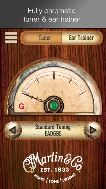 Martin Guitar Tuner- screenshot