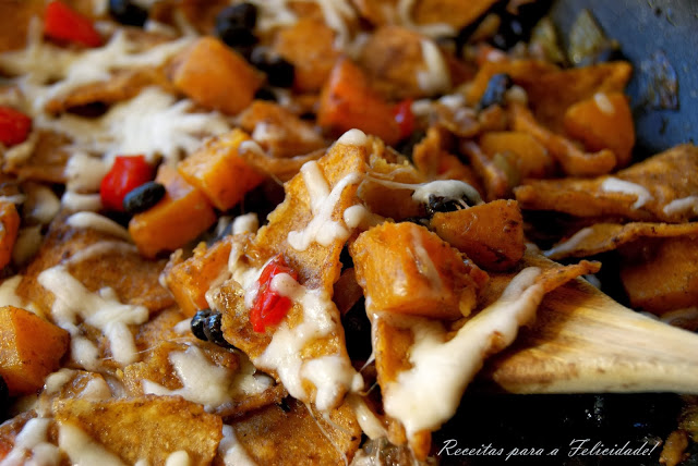 Stewed Pumpkin with Black Beans and Corn Chips Recipe