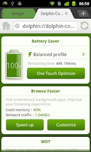 Dolphin Battery Saver- screenshot thumbnail