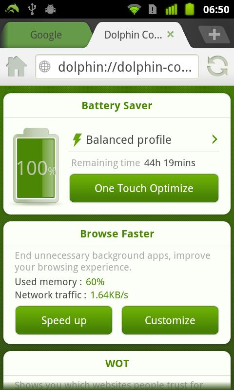 Dolphin Battery Saver - screenshot