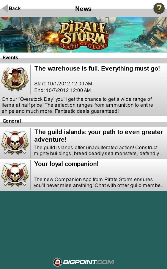 Pirate Storm Companion App - screenshot