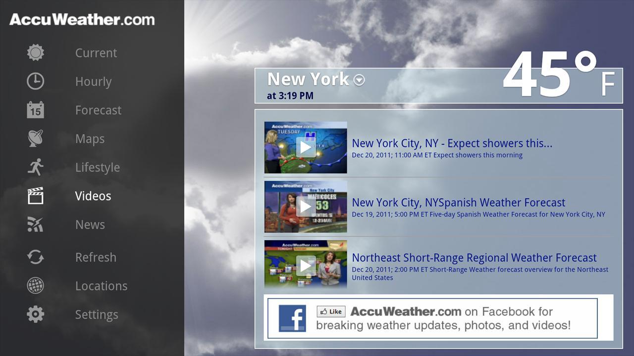 AccuWeather for Sony Google TV- screenshot