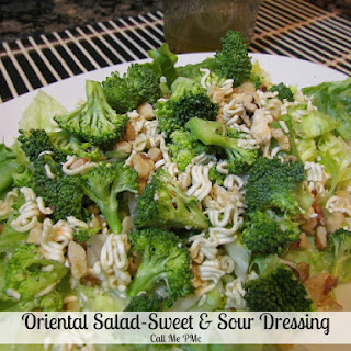 Oriental Salad with Sweet & Sour Dressing