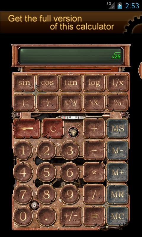 Steampunk Calculator Lite HD - screenshot