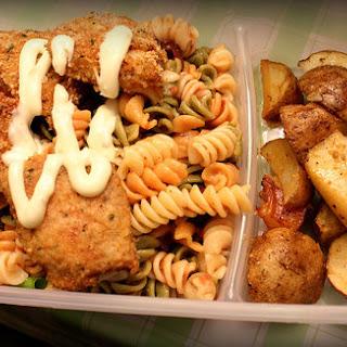 Fish Fillet w/Pasta & Herb Roasted Potatoes.