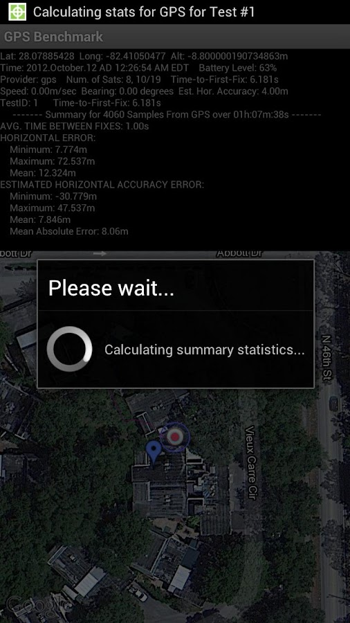 GPS Benchmark - screenshot