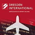 Flugtafel Flughafen Dresden logo