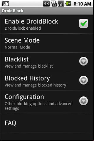 DroidBlock- screenshot