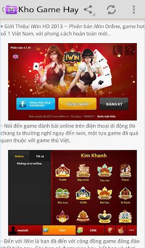 【免費通訊App】Kho Game Hay-APP點子