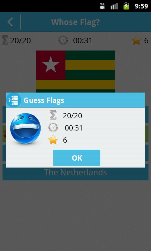 Guess Flags - screenshot