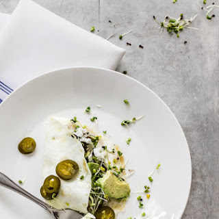 Egg White Omelet With Pickled Jalapenos
