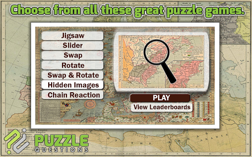 Free Old Maps Puzzle Games