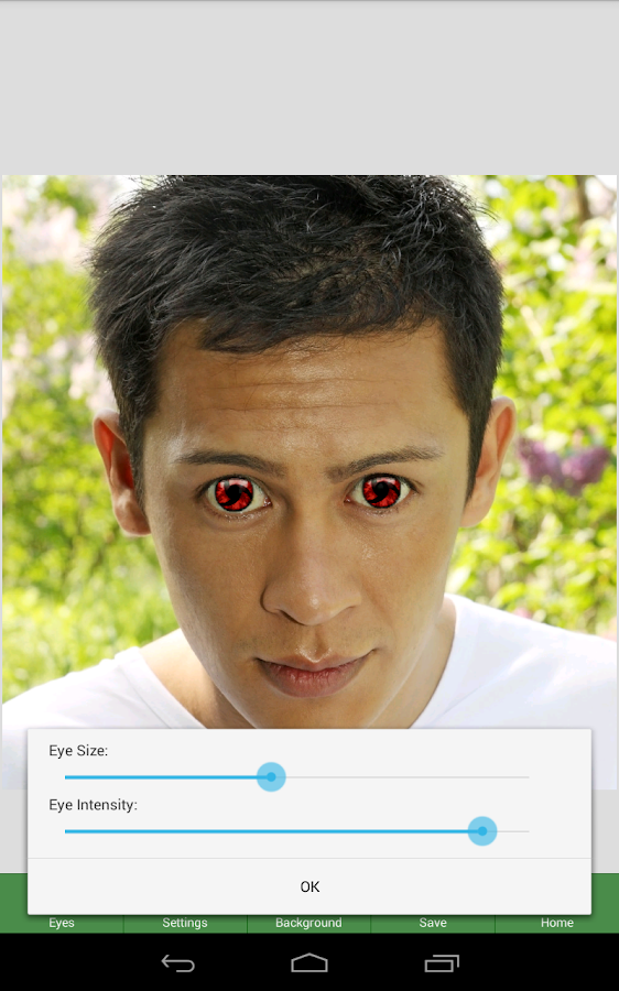 NiceEyes - Eye Color Changer - screenshot