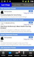 Screenshot of Insurance Forums