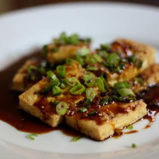 Pan-Fried Tofu with Dark Sweet Soy Sauce.