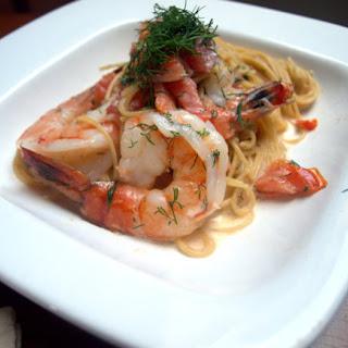 Shrimp in Sambuca Cream Sauce.