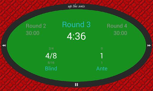 Up The Ante Poker Blind Timer