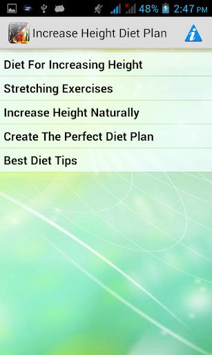 Increase Height Diet Plan