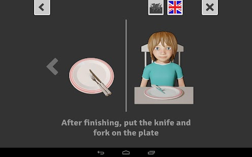 Eating with a knife and fork- screenshot thumbnail