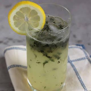 Lemon Basil Blossom Cocktail.