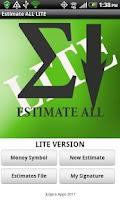 Screenshot of A Estimate All LITE