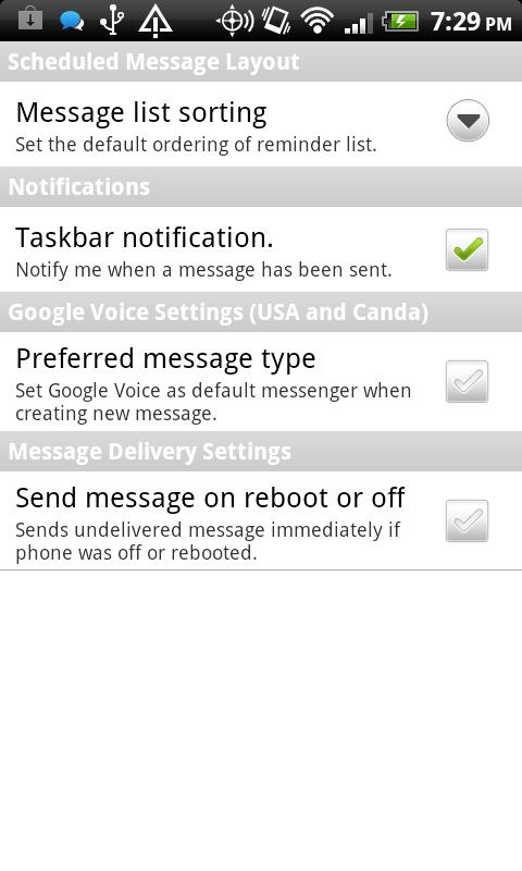 Titan Message Scheduler - screenshot
