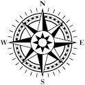 Compass with GPS icon