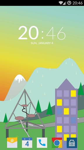 Plain Clock Widget