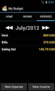 My Budget- screenshot thumbnail
