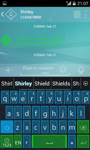 Green vs Blue Keyboard Theme