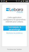 Screenshot of Lebara APN France