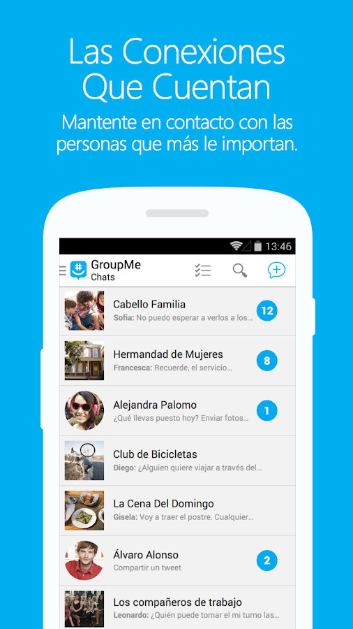 GroupMe: captura de pantalla
