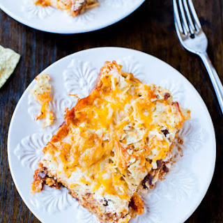Chips and Cheese Chili Casserole (vegetarian, GF)
