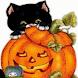 Kitty Pumpkin Live Wallpaper