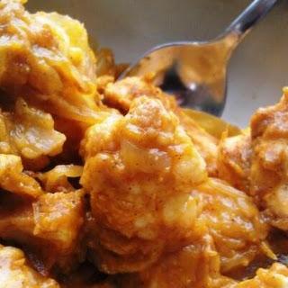 Paleo Pumpkin Cream Chicken Casserole.