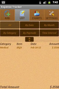Expense Tracker - screenshot thumbnail