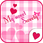 Cute wallpaper★pinky gingham icon