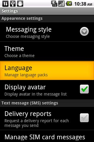 Easy SMS Korean language - screenshot