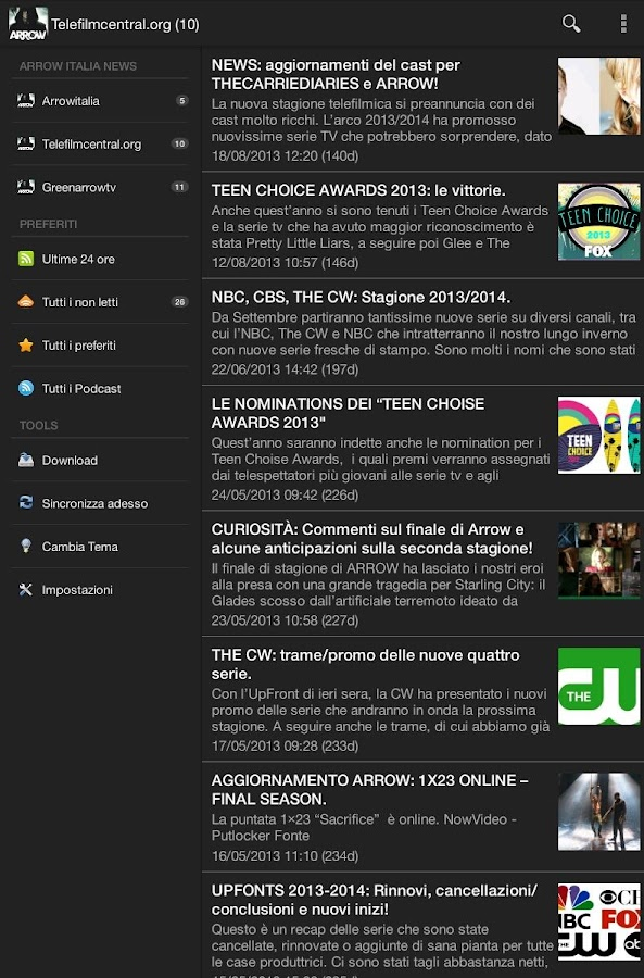 Arrow Italia News - screenshot