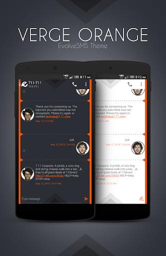 EvolveSMS Theme - Verge Orange